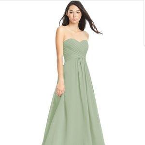 Azazie Yazmin dusty sage custom bridesmaid dress